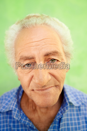 portrait of happy elderly caucasian man