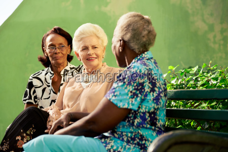 group of elderly black and caucasian