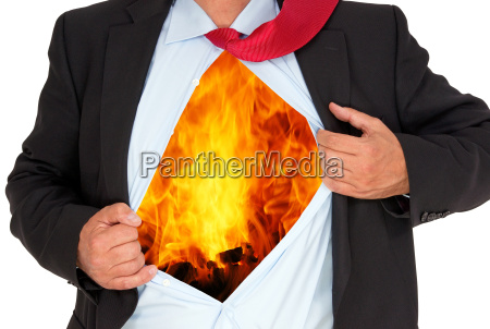 business man with burnout