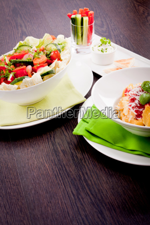 various presented dishes with pata pasta