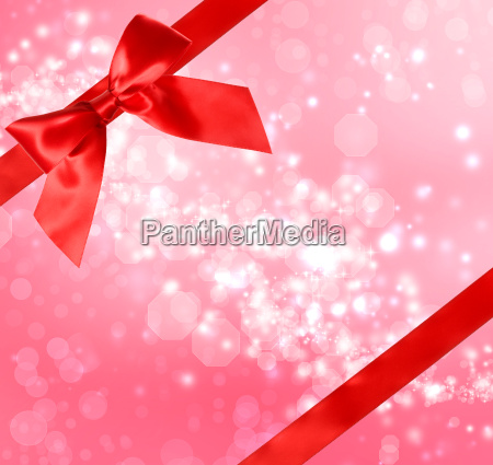 red bow and ribbon with abstract