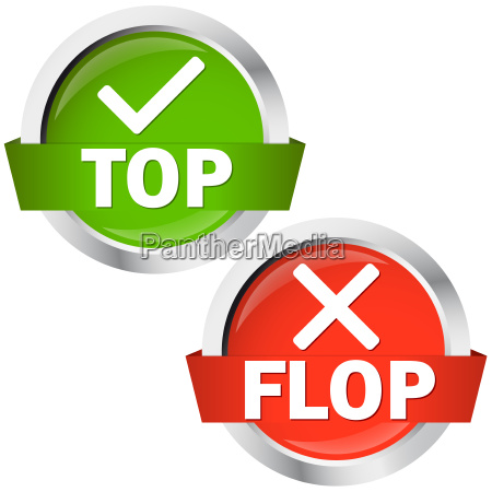 buttons top oder flop