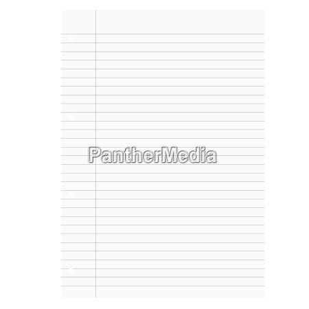 empty white sheets of lined paper