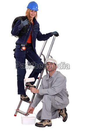 ein team von handwerkern