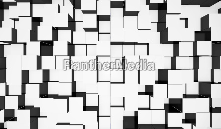 background cubes mixture white black