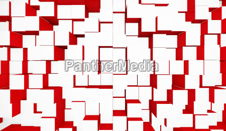 background cubes mixture white red