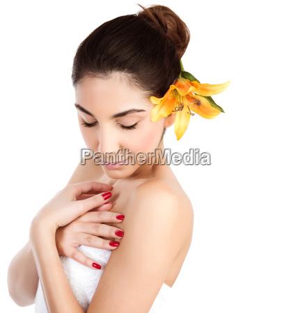 young lady at spa