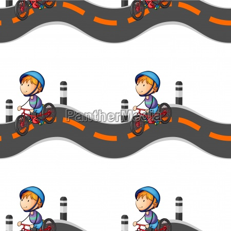 boy riding on bicycle