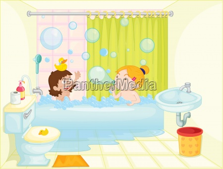 girl in bath tub