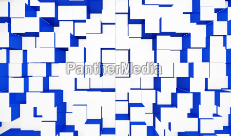 abstract cube background blue white