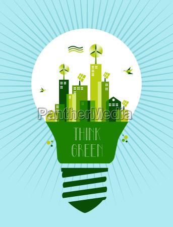 go green city idea concept