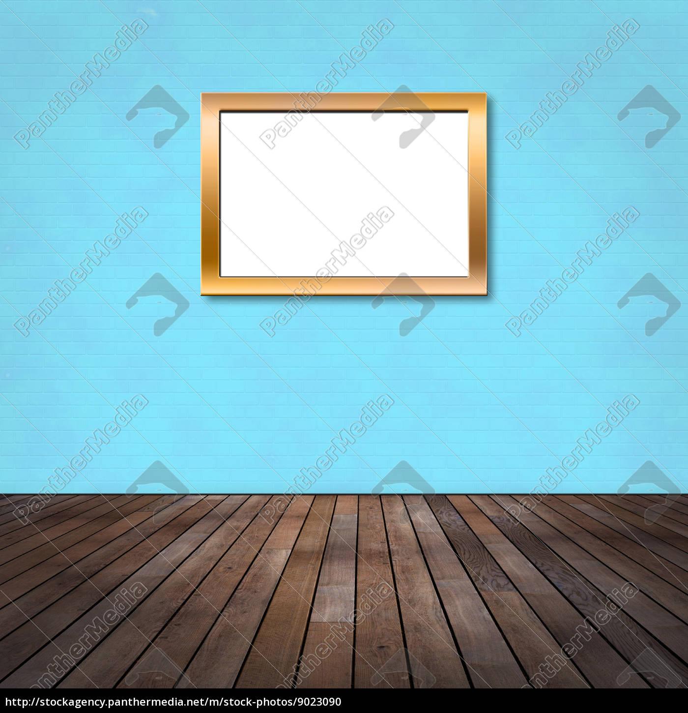 Raum mit Ziegelwand und Bilderrahmen - Stock Photo - #9023090 ...