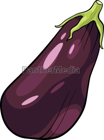 eggplant vegetable cartoon illustration