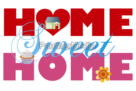 home sweet home alphabets illustration
