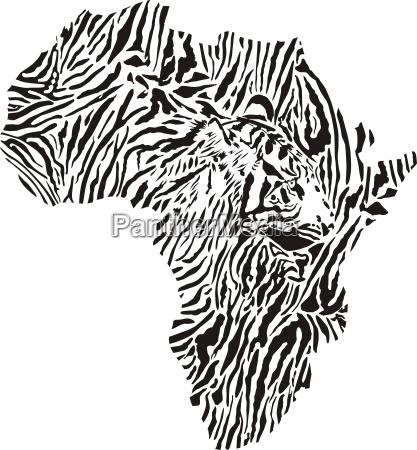 symbol afrika in tiger tarnung