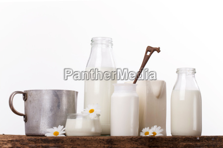 milk in various containers