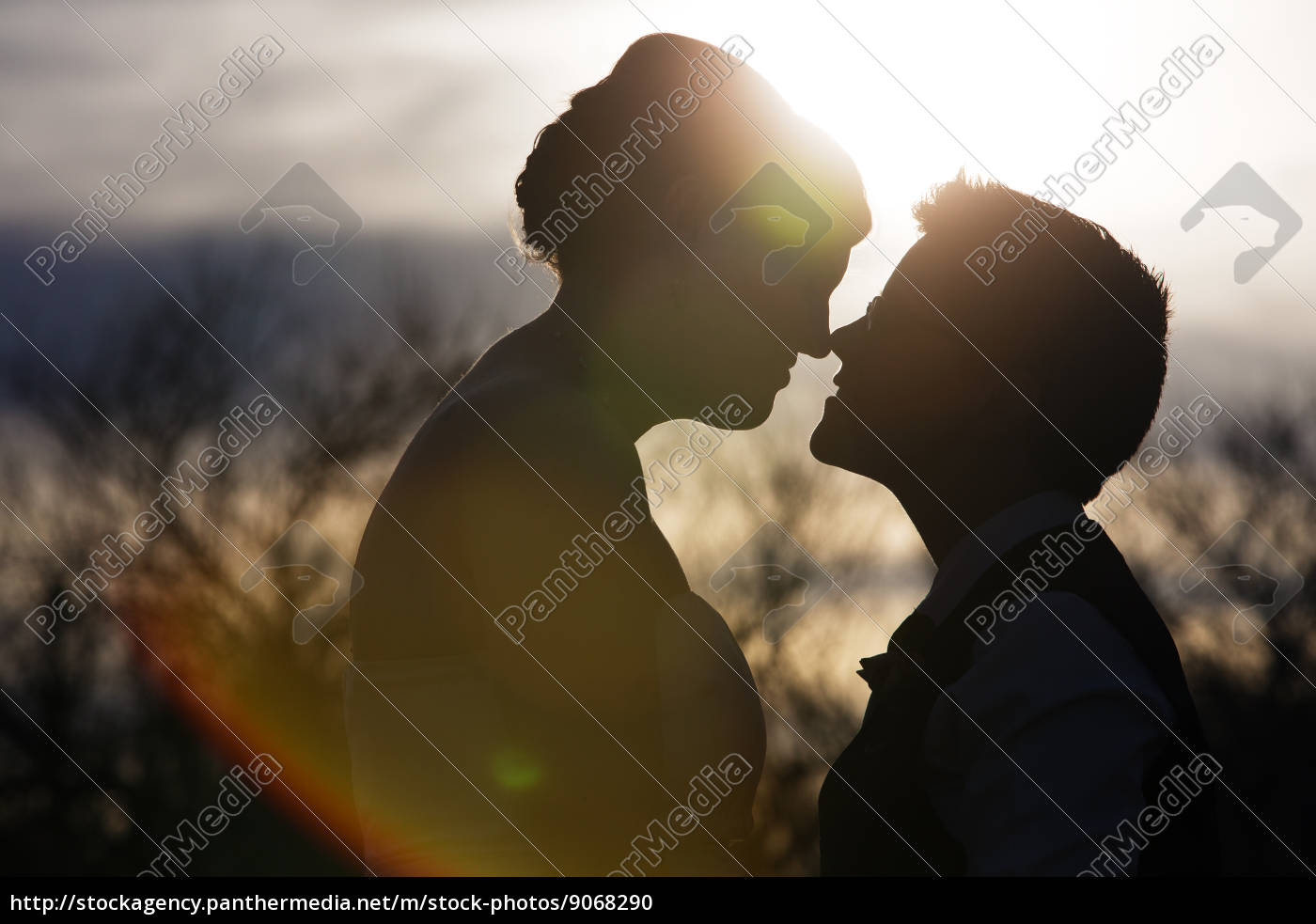 gegenlicht, liebespaar - 9068290