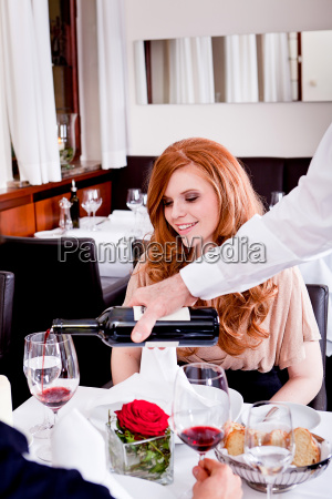 couple man and woman having dinner