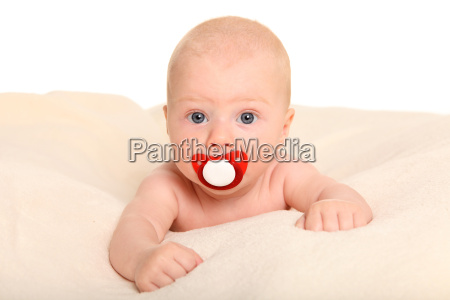 with pacifier