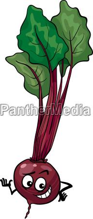 cute beet vegetable cartoon illustration