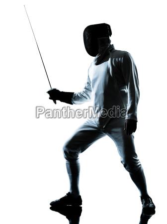 mann fechten silhouette