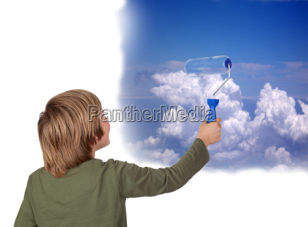 blau farbe himmel paradies himmelreich wolke