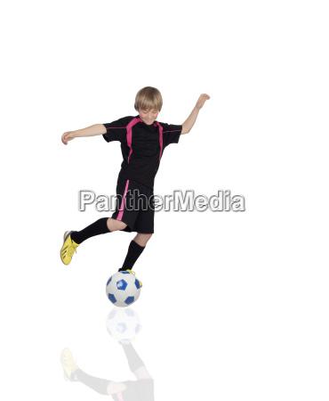 preteen fussballspielen