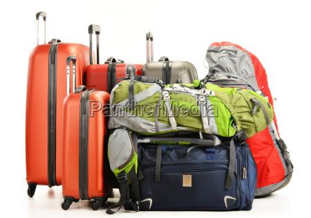 gepaeck bestehend aus grosse koffer rucksaecke