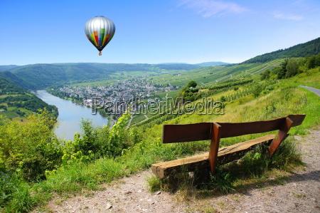 heissluftballon ueber kroev