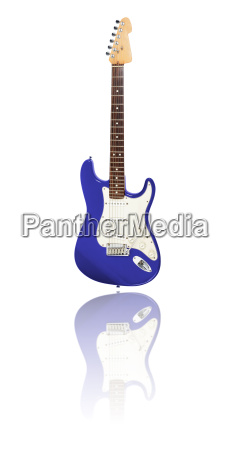 electric guitar with reflection