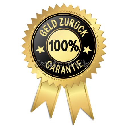 siegel 100 geld zurueck garantie