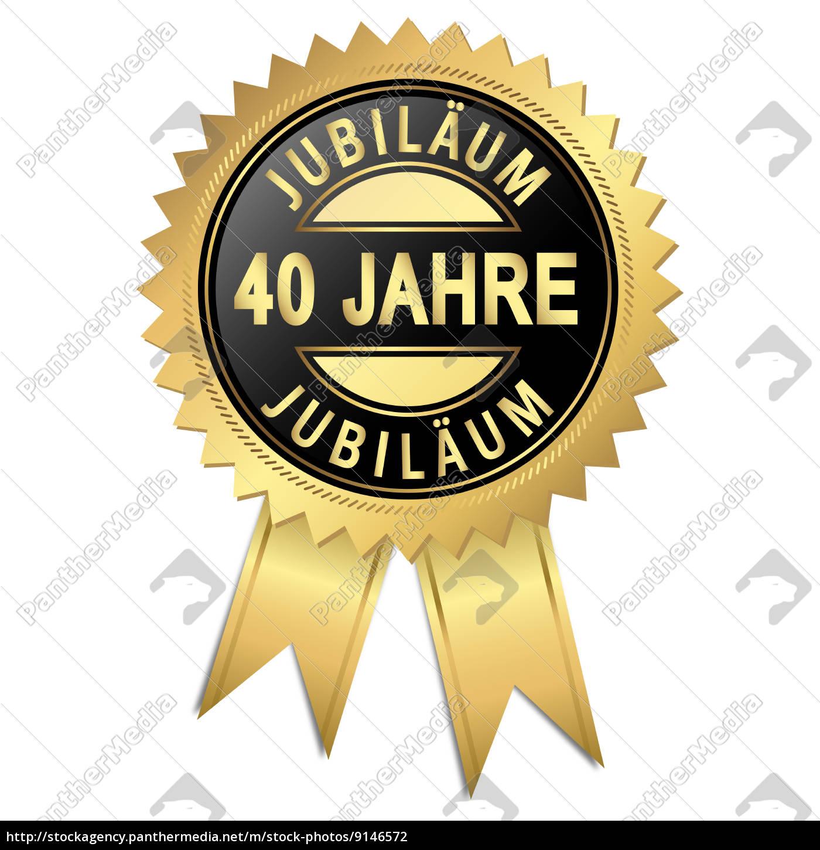 Jubiläum 40 Jahre Lizenzfreies Foto 9146572 Bildagentur