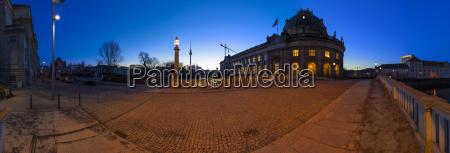 bode museum in berlin as panoramic