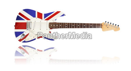 electric guitar with mirroring