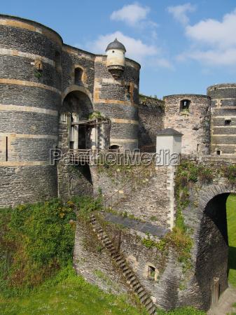 towers and drawbridge of the angevine