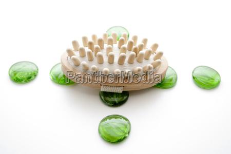 massagebuerste mit glassteine