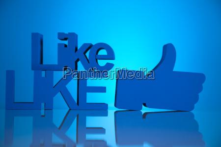 daumen hoch symbol social media