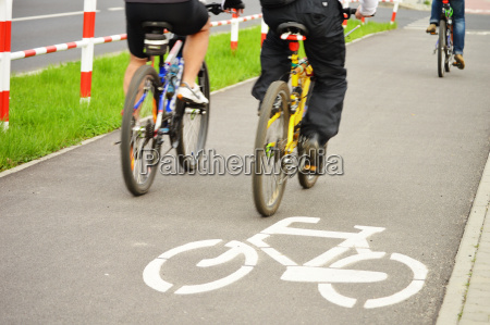bicycle road sign and bike rider