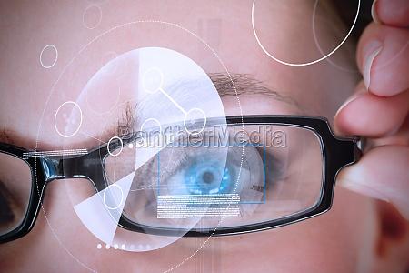 frau weiblich auge oculus ophthalmos organ