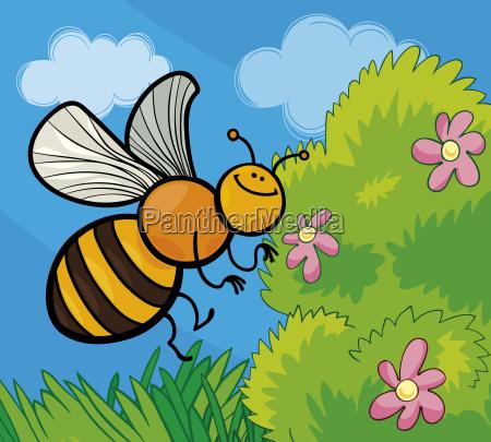 insekt blume pflanze illustration schriftzeichen charakter