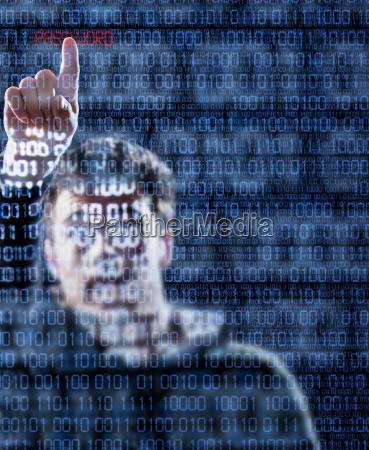 hacker die gerade das passwort gefunden
