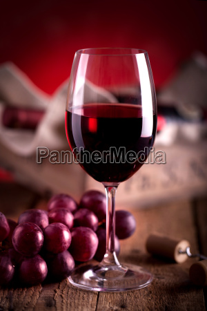 red wine in glass with wine