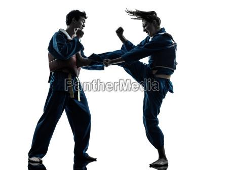 karate vietvodao martial arts man woman