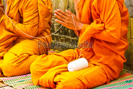 the monks and religious rituals in