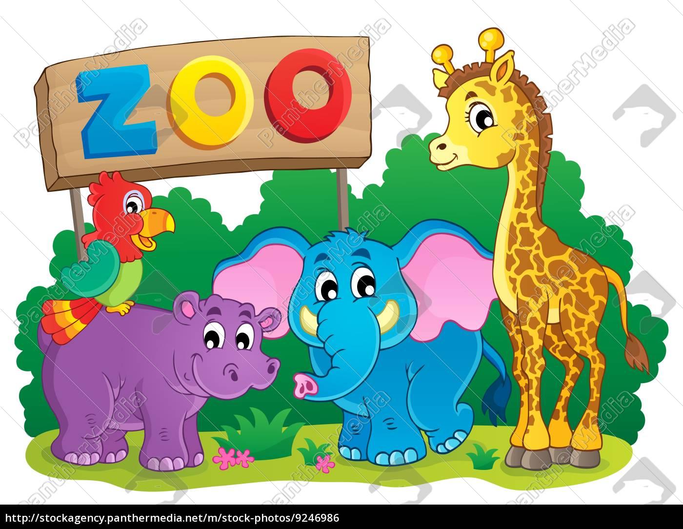 süße, afrikanische, tiere, thema, bild, 6 - 9246986