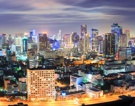 bangkok innenstadt skyline in der nacht