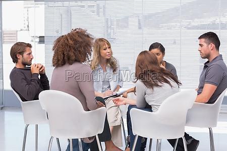 gruppentherapie, in, der, sitzung - 9295736