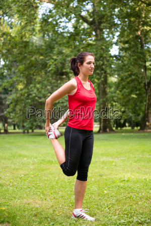warm up exercise sport woman