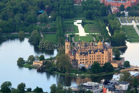 schwerin castle with castle park