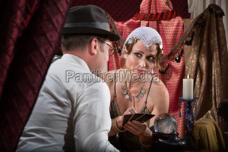 sexy tarot card reader